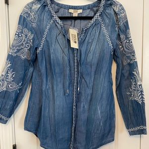 American Vintage denim blouse